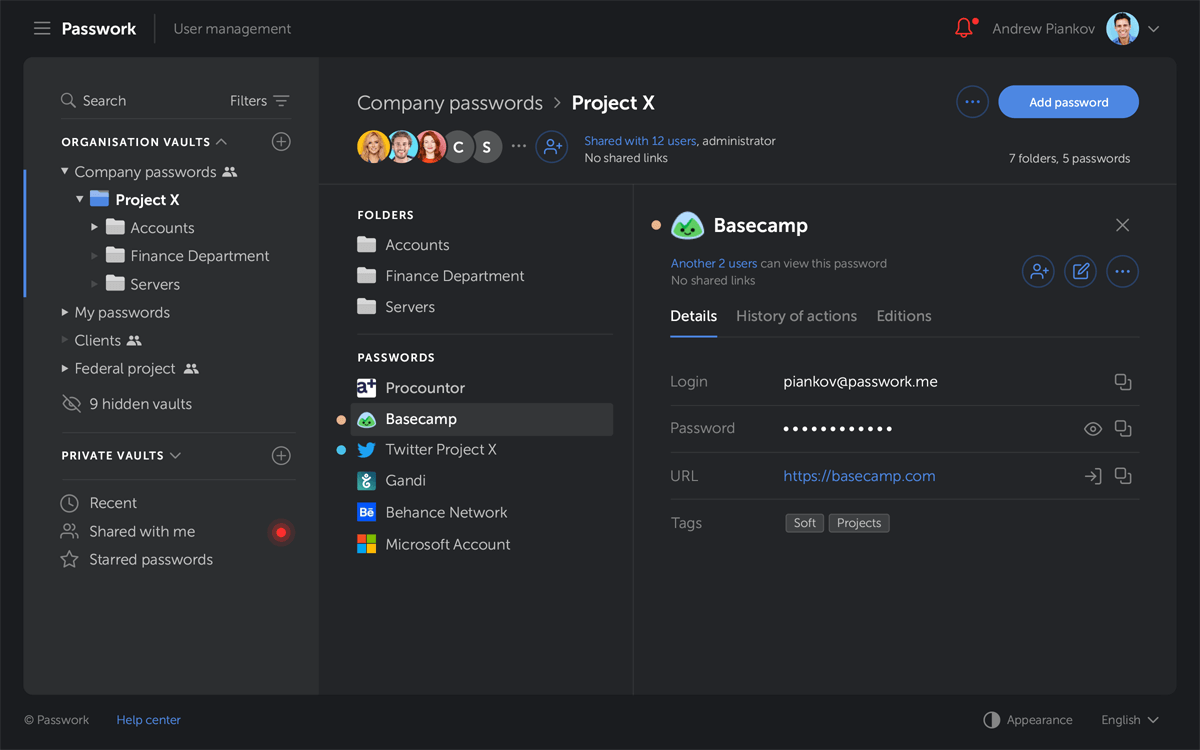 Team Password Manager For Company And Business